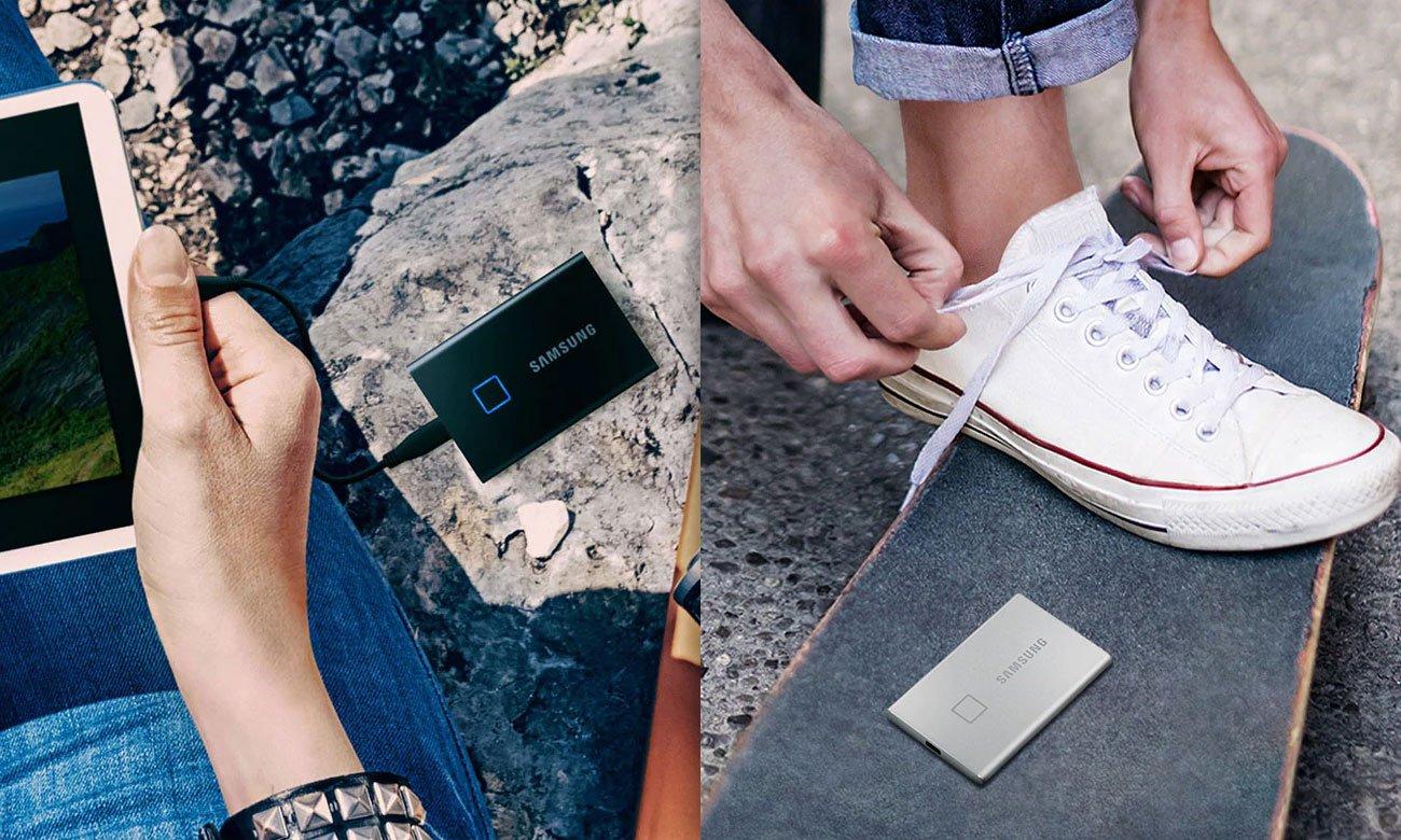 Samsung Portable SSD T7 Touch - Wytrzymałość, rozmiar