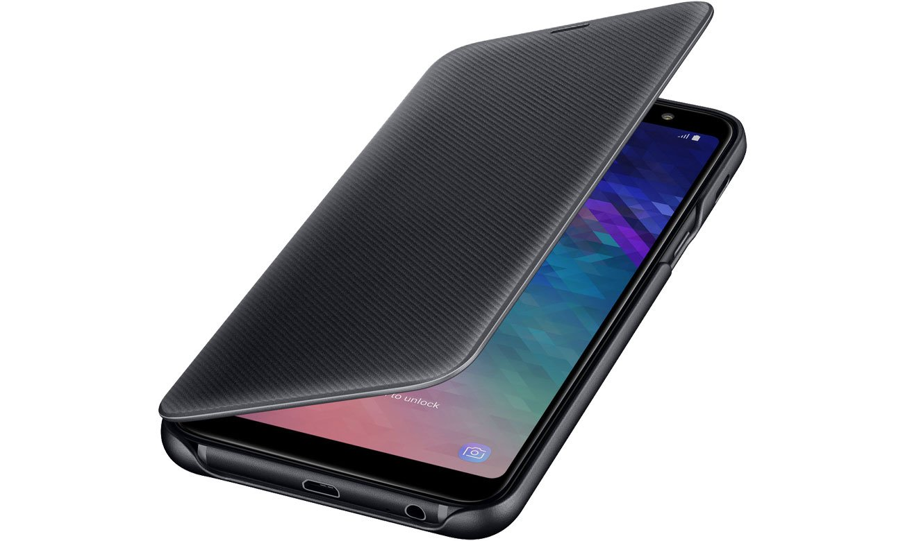 Samsung Wallet Cover do Galaxy A6+ Czarny