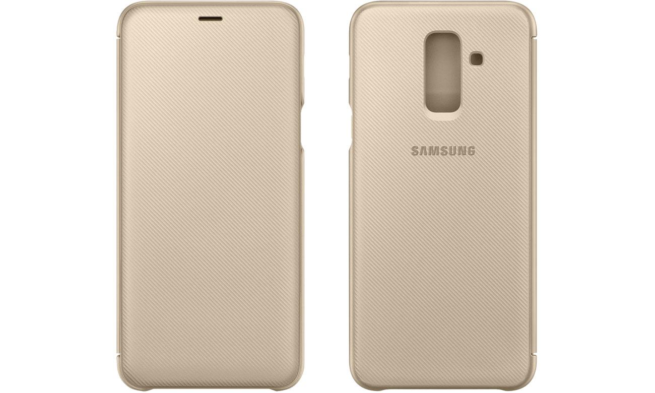 Etui Samsung Wallet Cover do Galaxy A6+ złoty EF-WA605CFEGWW