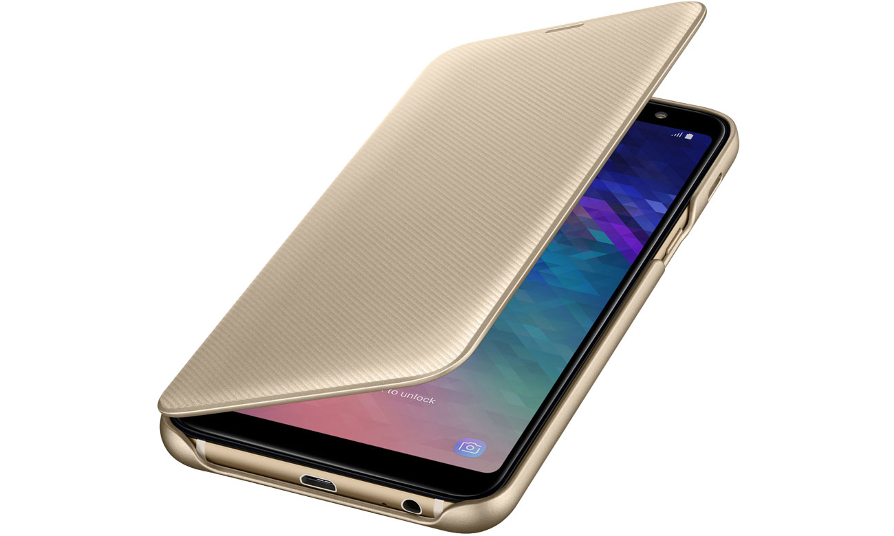 Samsung Wallet Cover do Galaxy A6+ złoty