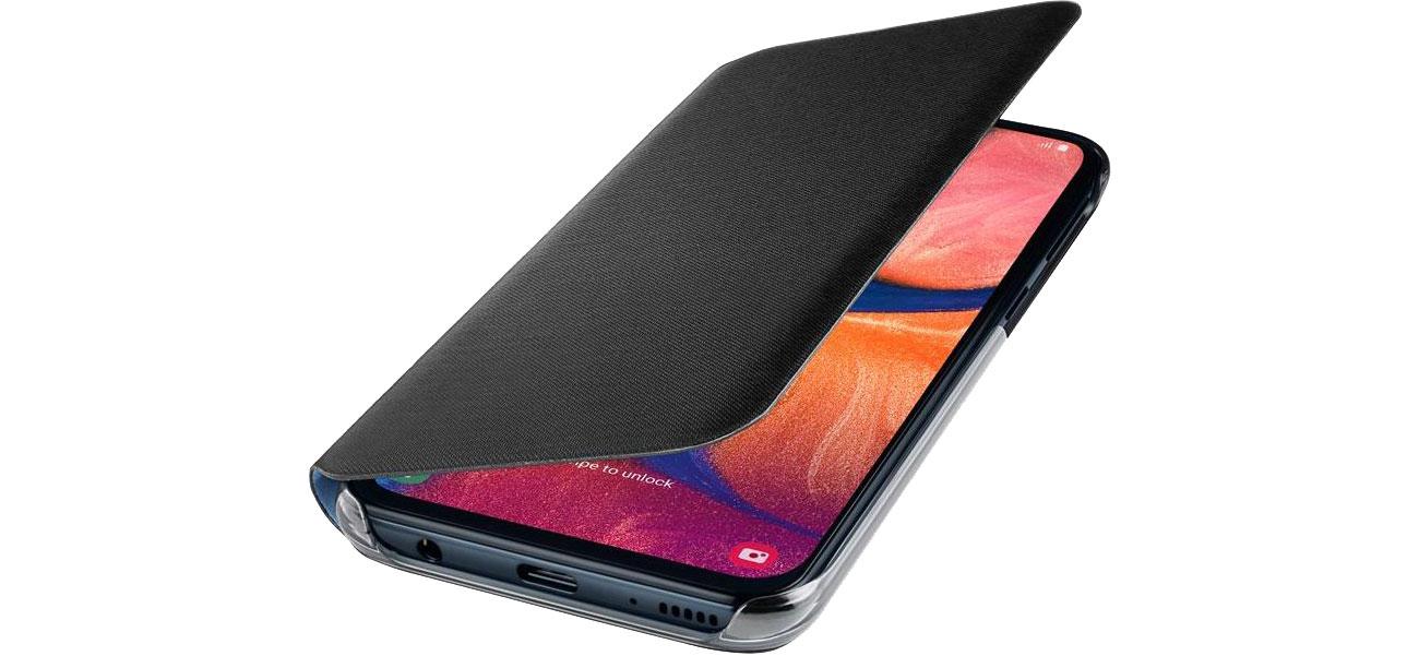 Etui Samsung Wallet Cover do Galaxy A20e czarny EF-WA202PBEGWW