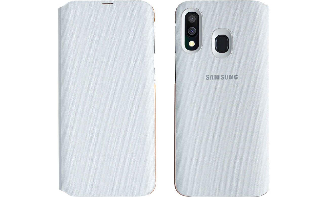 Samsung Wallet Cover do Galaxy A40 Przód i tył