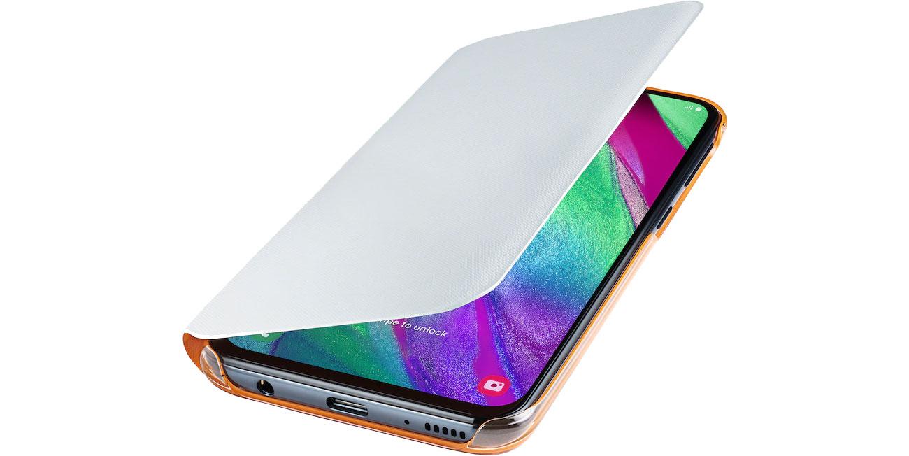 Etui Samsung Wallet Cover do Galaxy A40 biały EF-WA405PWEGWW