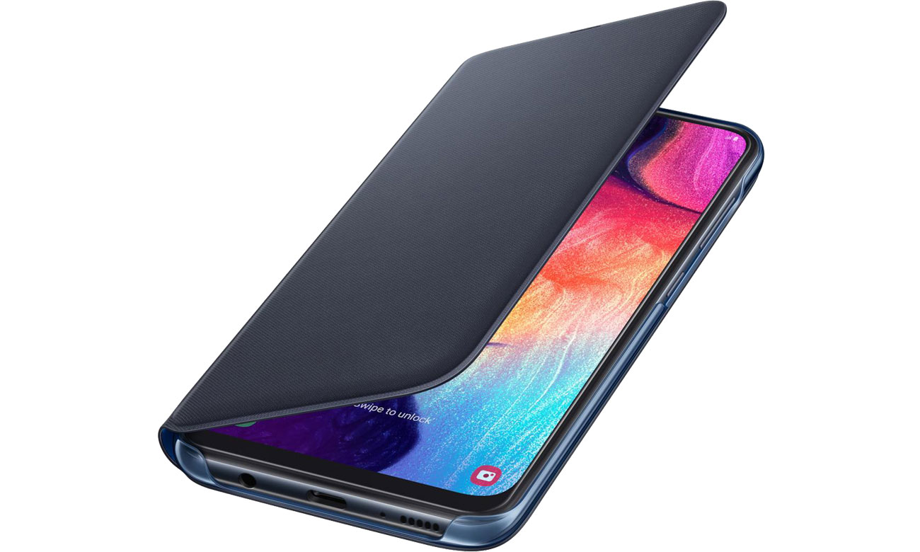 Etui Samsung Wallet Cover do Galaxy A50 biały EF-WA505PBEGWW