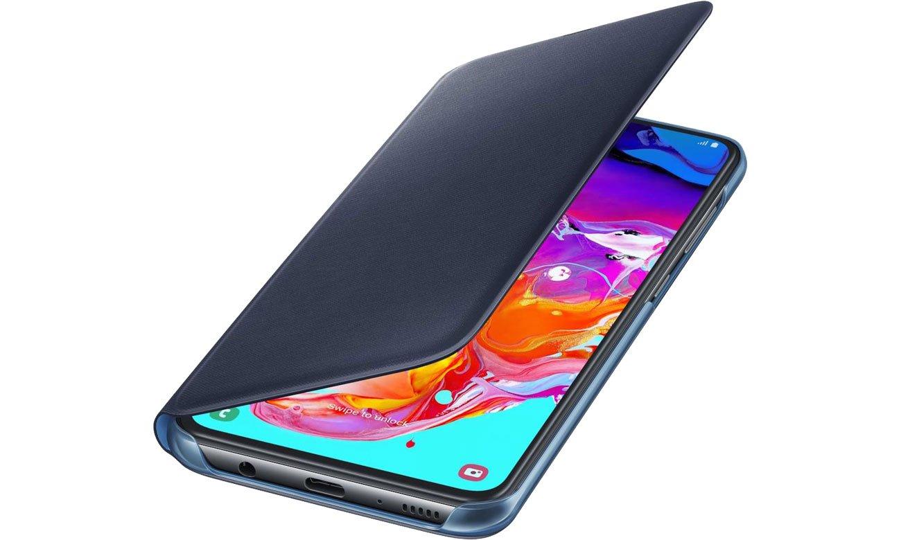 Etui Samsung Wallet Cover do Galaxy A70 czarny EF-WA705PBEGWW