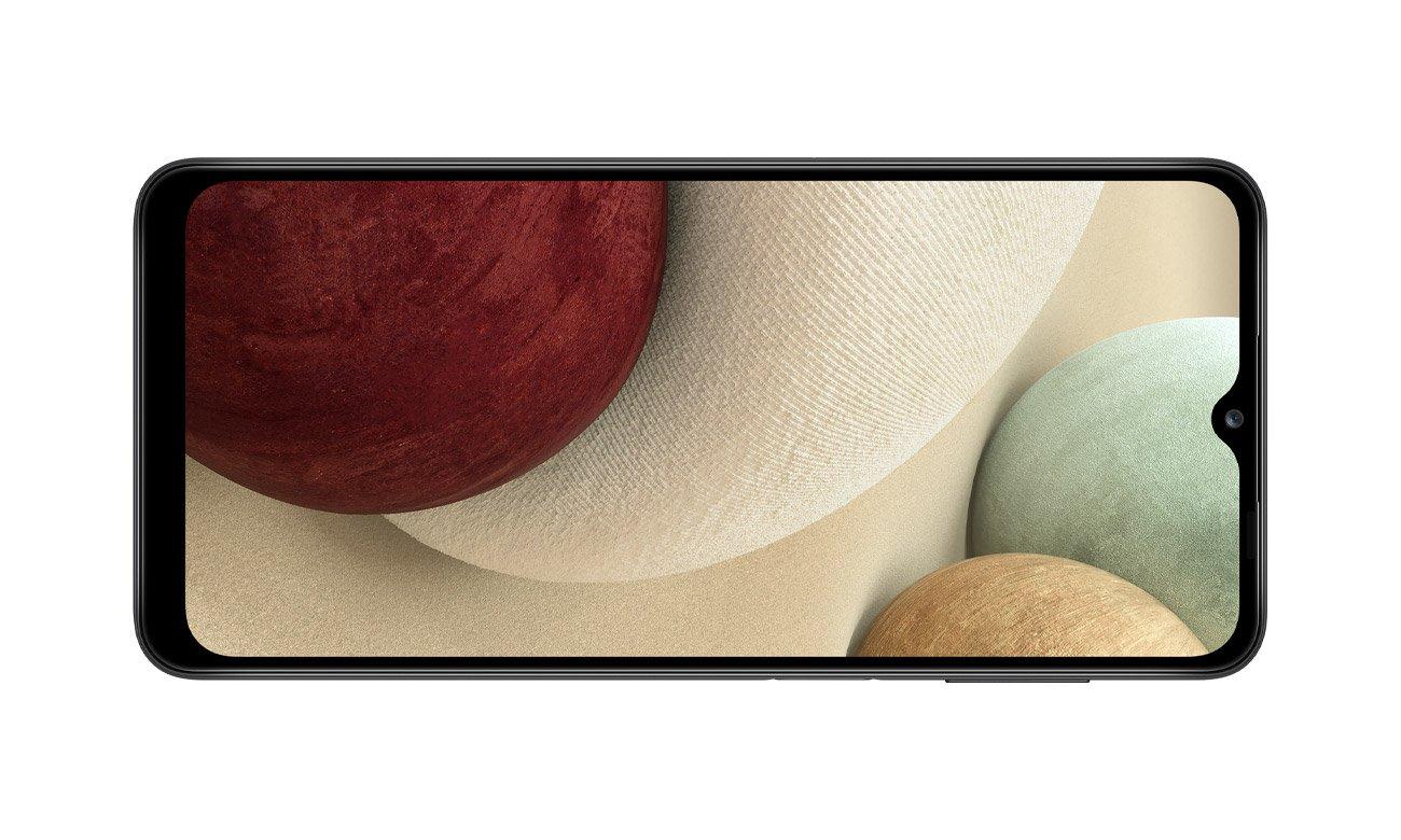 Samsung Galaxy A12 4/64 GB Black i jego ekran 6,5 cala o rozdzielczości HD+