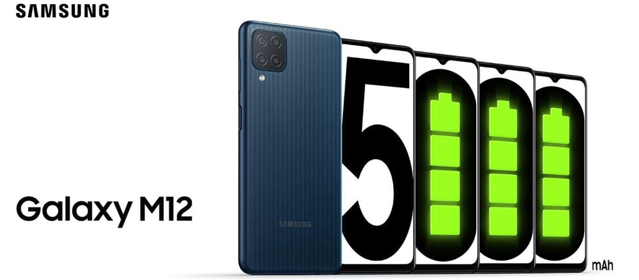 Bateria 5000 mAh Samsung Galaxy M12 64GB Black