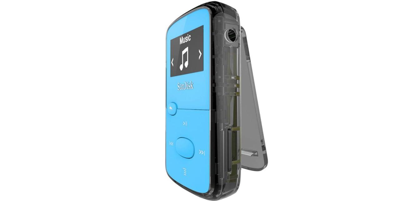 Odtwarzacz SanDisk Clip Jam 8GB niebieski doskonałe brzmienie