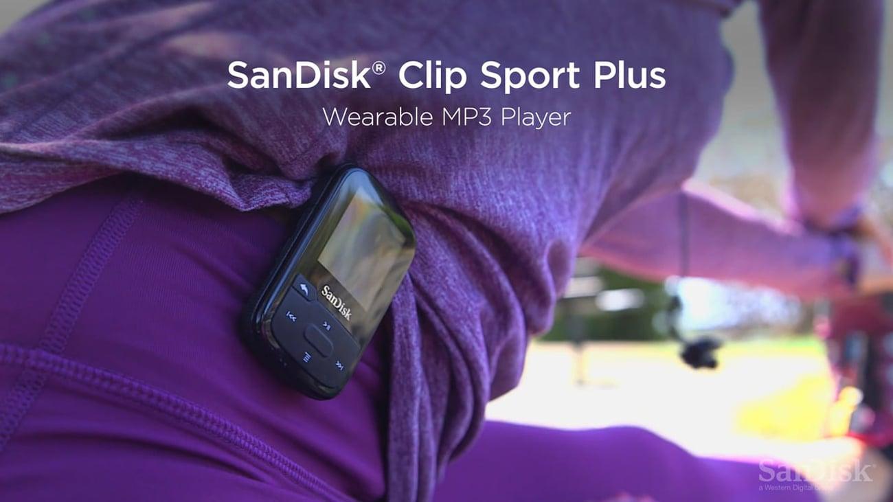 SanDisk Clip Sport Plus niebieski Wbudowany akumulator