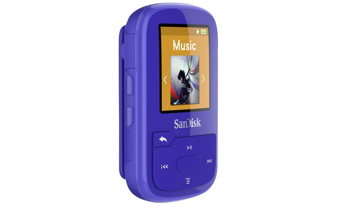 SanDisk Clip Sport Plus niebieski Duży ekran LCD
