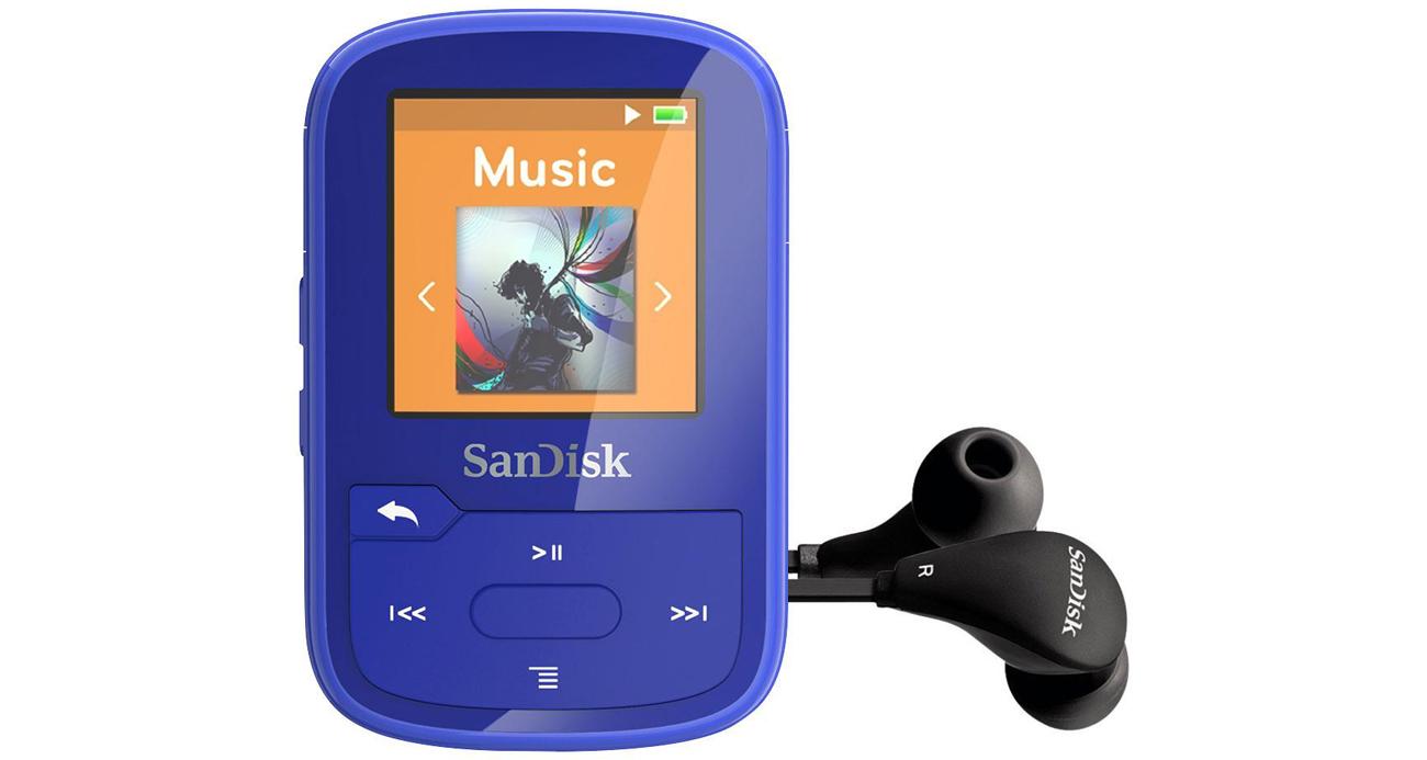 SanDisk Clip Sport Plus niebieski Słuchawki w zestawie