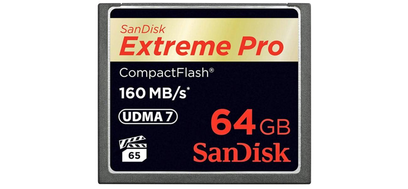 Extreme Pro 64GB szybki zapis odczyt prędkość transferu