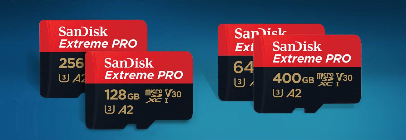 Sandisk Extreme Pro microSDXC UHS-I Ekstremalne prędkości szybkiego transferu danych