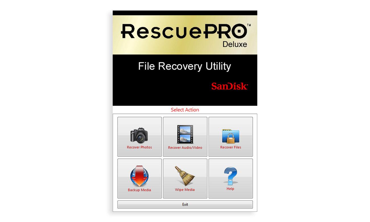 SanDisk Extreme PRO CFAST 2.0 Oprogramowanie RescuePro Deluxe, Łatwe odzyskiwanie plików