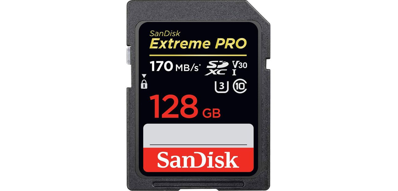SanDisk 128GB SDXC Extreme Pro odczyt: 170MB/s/ 90MB/s