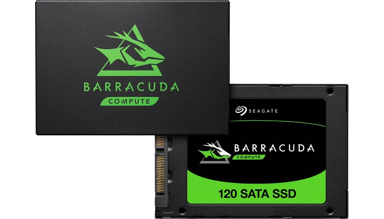 Seagate BarraCuda 120 - Przód, tył