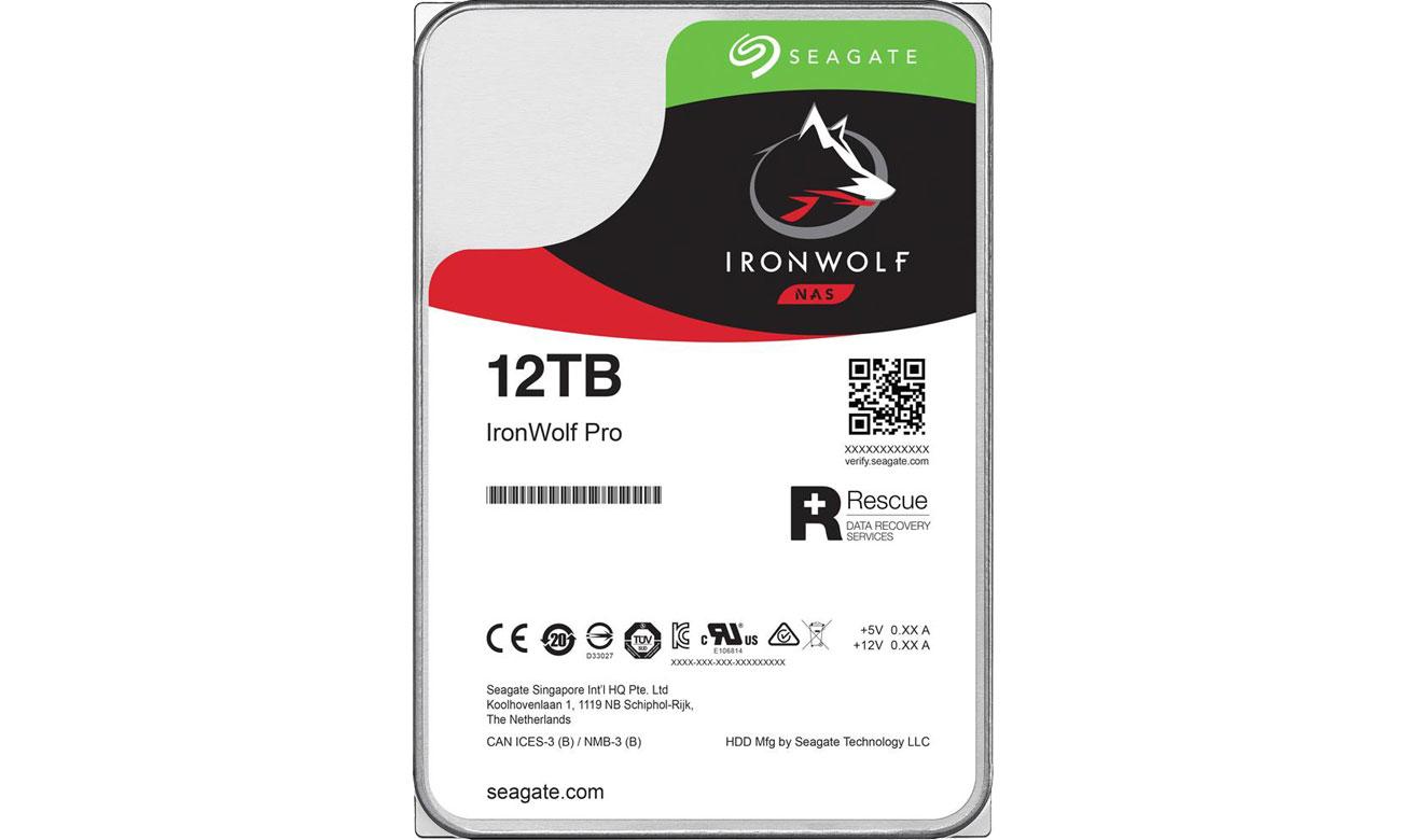 Dysk HDD Seagate 12TB 7200obr. 256MB IronWolf Pro ST12000NE0008