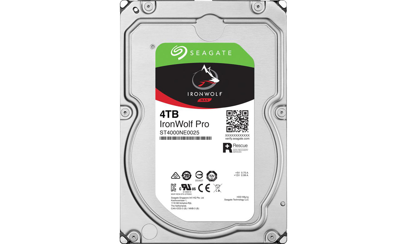 Dysk HDD Seagate 4TB 7200obr. 128MB IronWolf Pro ST4000NE0025