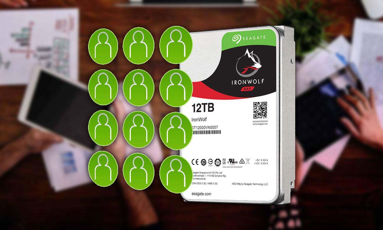 Seagate IronWolf 6TB Optymalizacja pod kątem technologii Multi-User