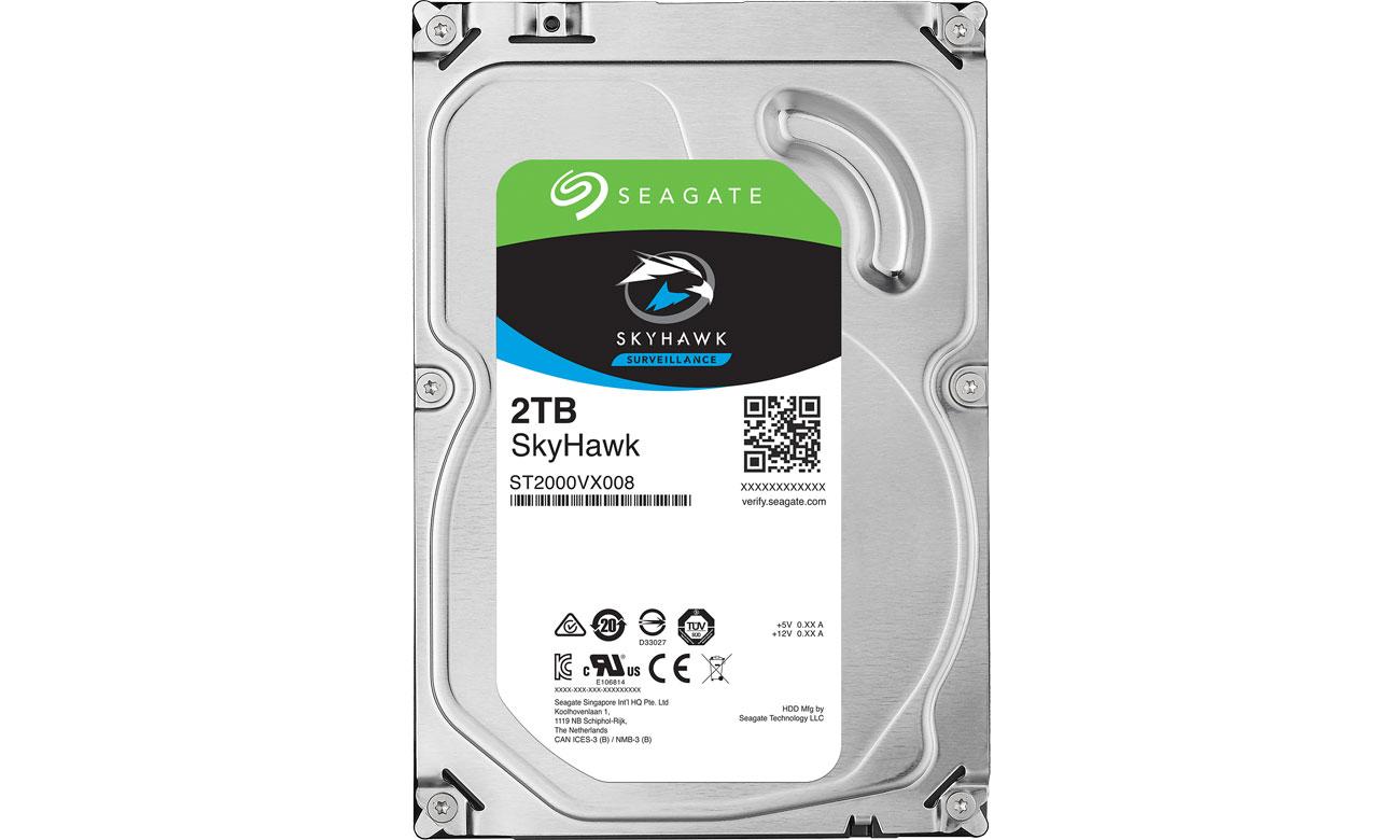 Dysk HDD Seagate 2TB 64MB SkyHawk ST2000VX008