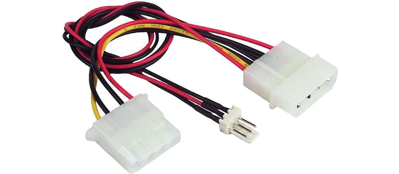 SHIRU molex HDD - molex HDD+3pin (wentylator) SMHM-01