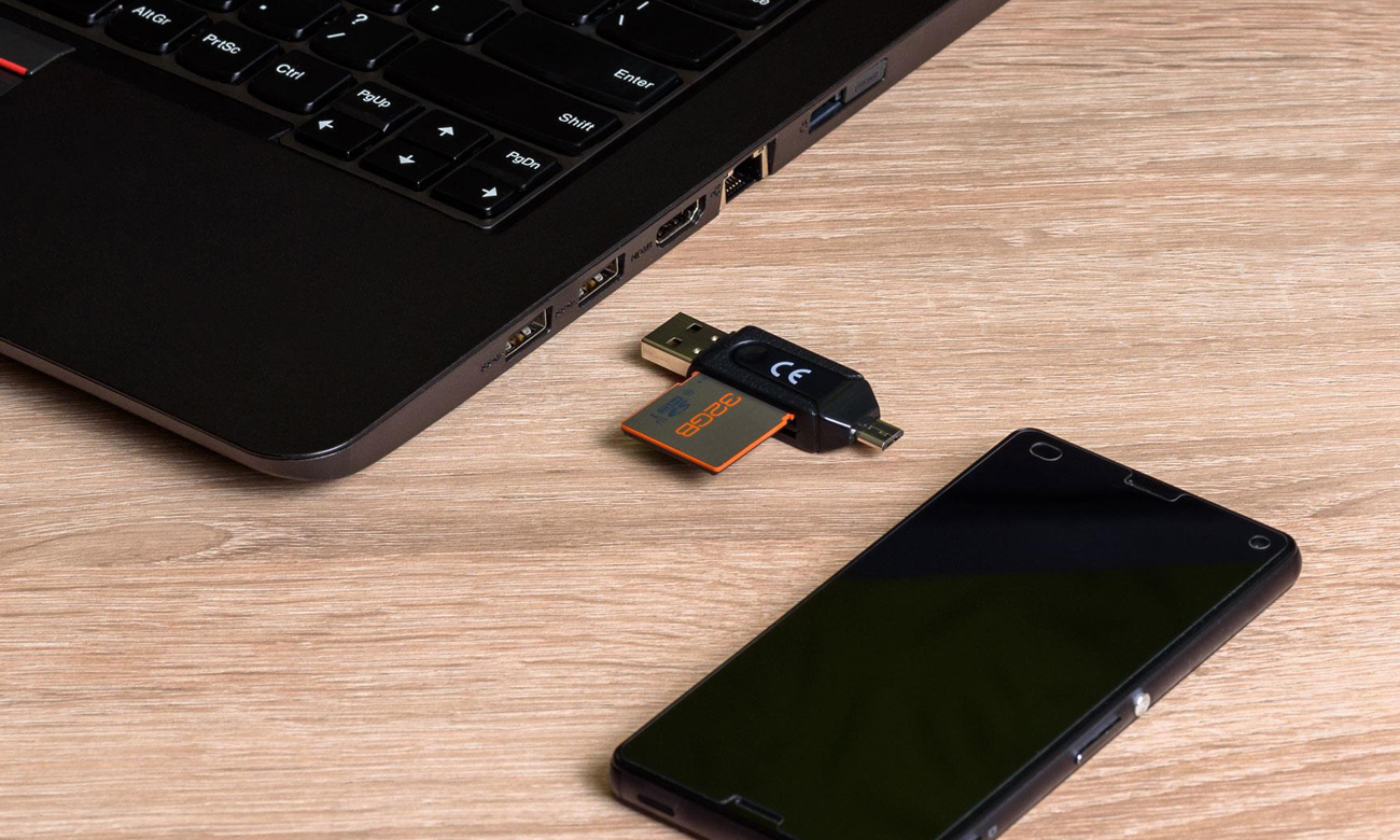 Czytnik kart pamięci USB SHIRU OTG