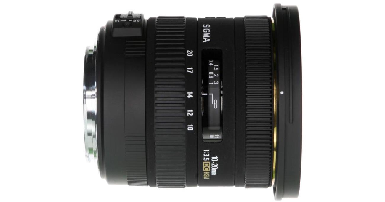Obiektyw szerokokątny Sigma 10-20 F3.5 EX DC HSM dla Canon