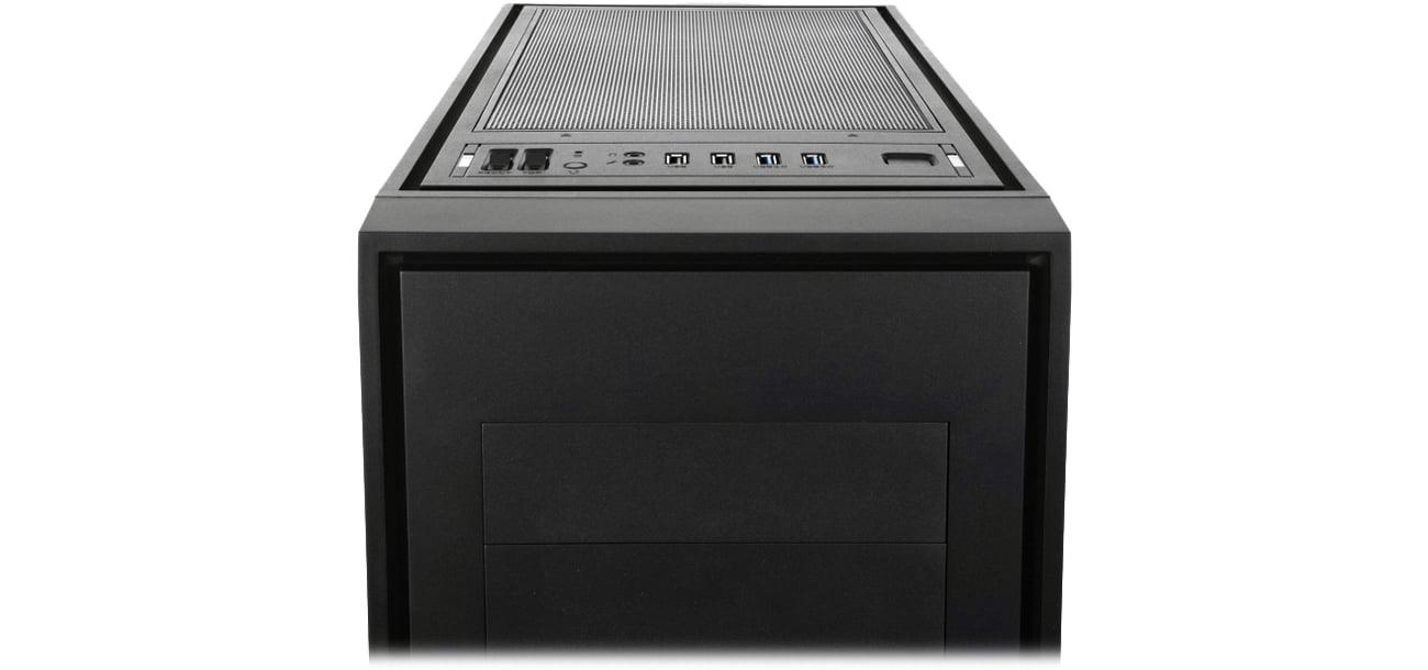 SilentiumPC AQUARIUS AQ-X70W Pure Black panel USB