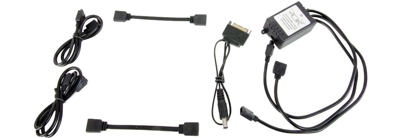 SilentiumPC Aurora II Remote RGB-302 przewody