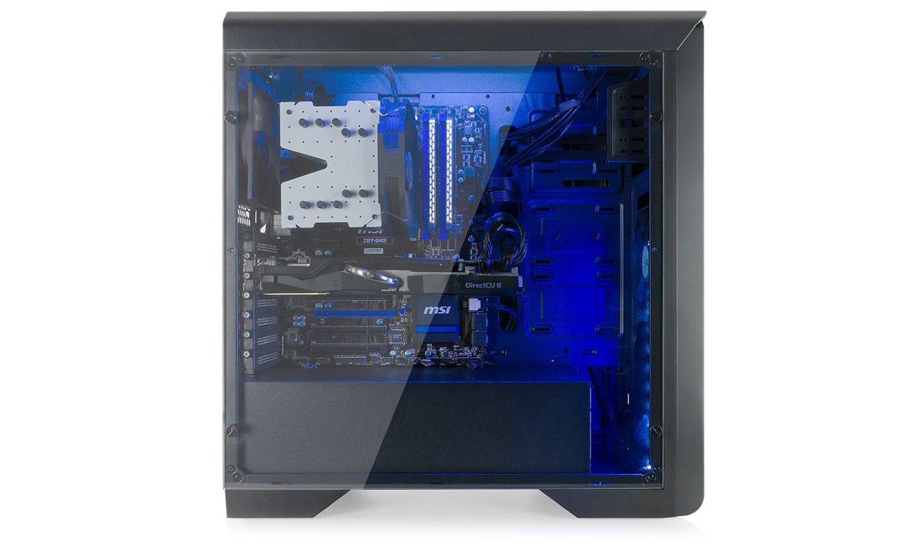 SilentiumPC Gladius M35T Pure Black szklany panel boczny