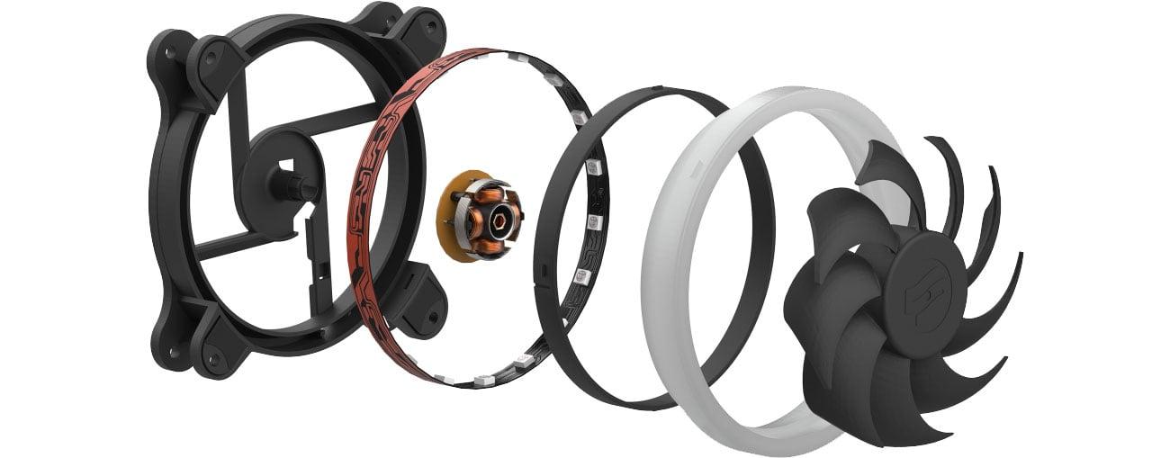 SilentiumPC Sigma HP 120 Corona RGB Konstrukcja