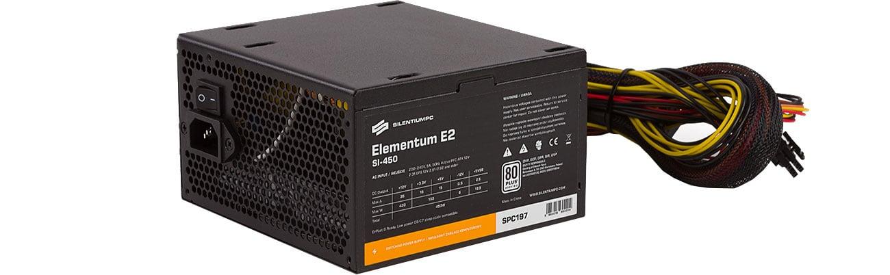 Zasilacz SilentiumPC 450W Elementum E2 SI 80+