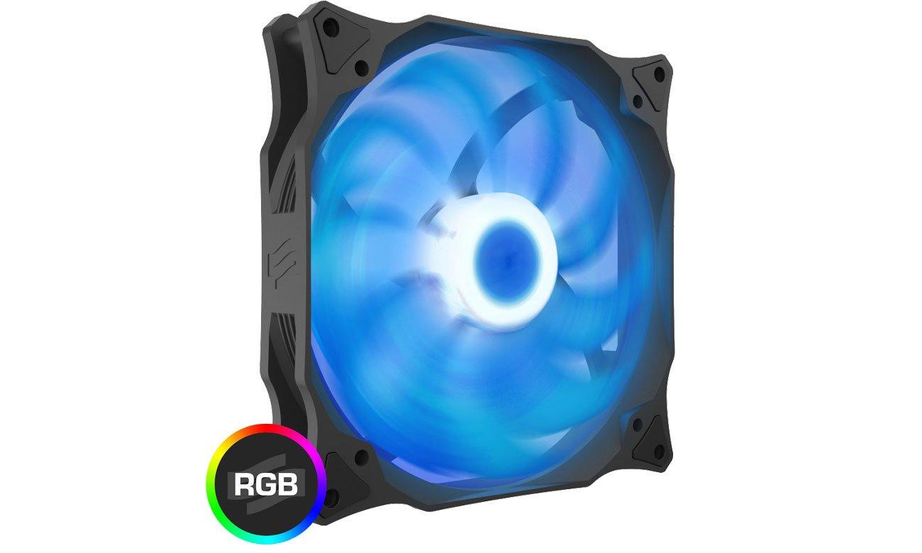 SilentiumPC Stella HP RGB 140 PWM - Podświetlenie LED