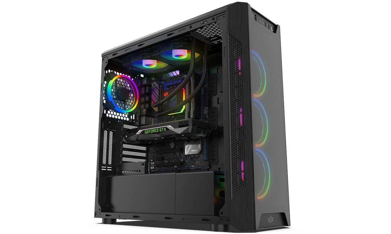 SilentiumPC Navis Evo ARGB 240 - Podświetlenie RGB w obudowie