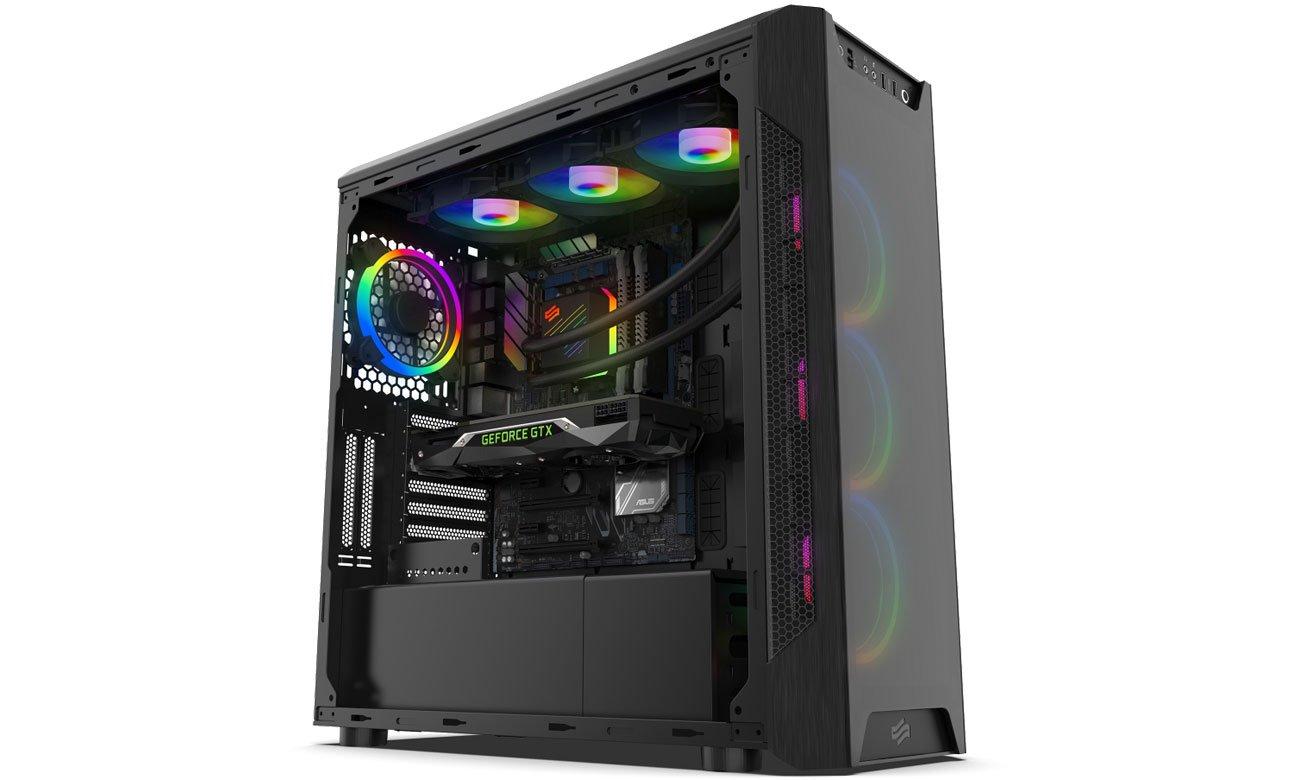 SilentiumPC Navis Evo ARGB 360 - Podświetlenie RGB w obudowie