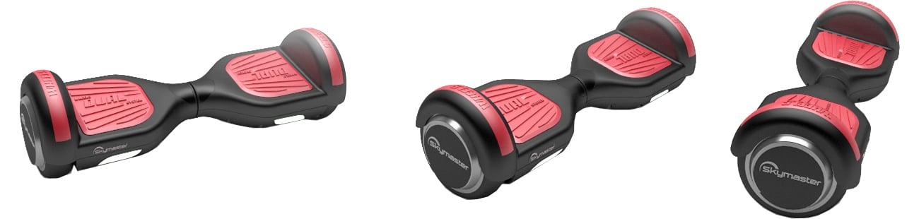 Deskorolka elektryczna SKYMASTER Wheels 6.5'' czarno-czerwona