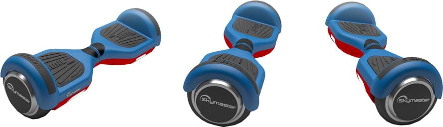 Deskorolka elektryczna SKYMASTER Wheels 6.5'' niebiesko-czerwona