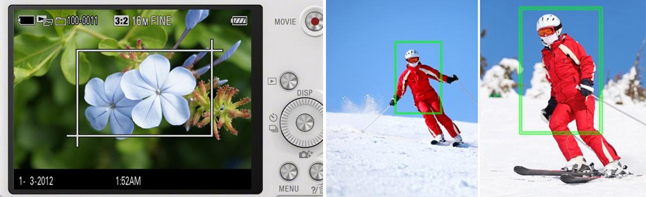 Sony DSC-WX350 Kadrowanie Śledzenie
