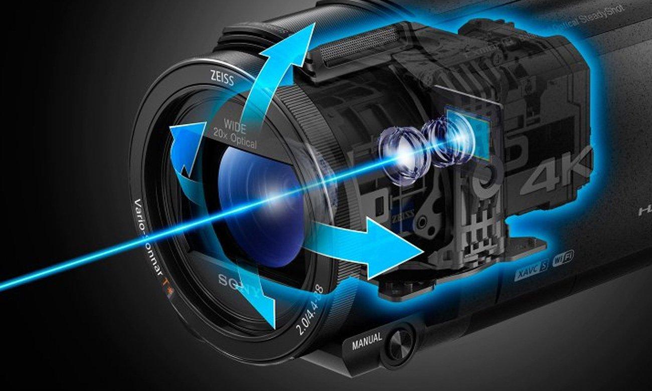 Sony FDR-AX53B Redukcja Drgań