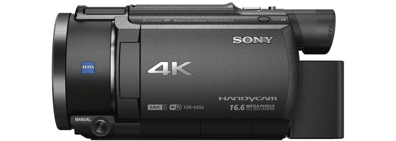 Sony FDR-AX53B Widok Z Boku