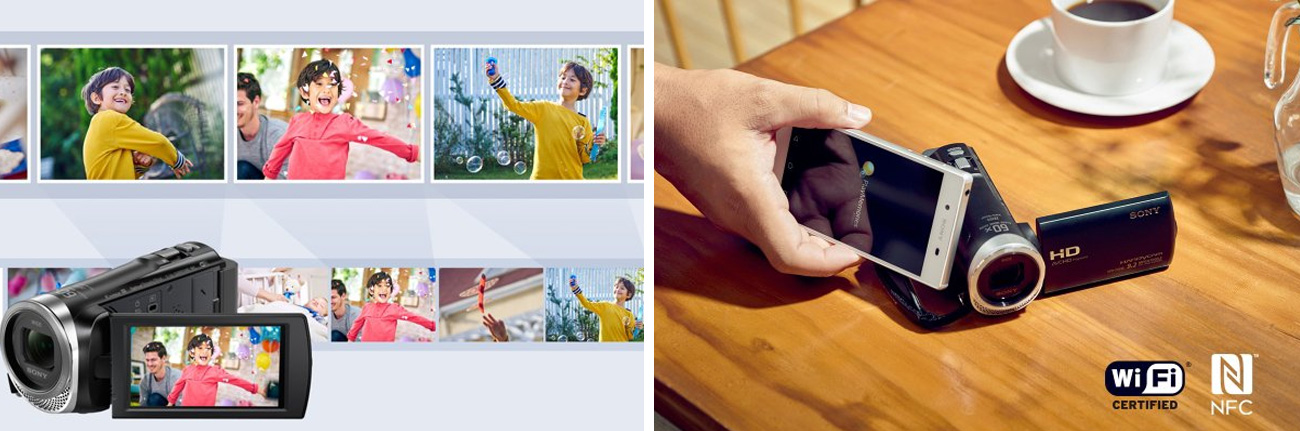 Sony HDR-CX625B Bezprzewodowa Łączność i Montaż
