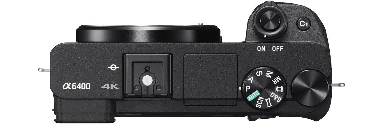 Sony ILCE A6400 - Widok z góry, sterowanie