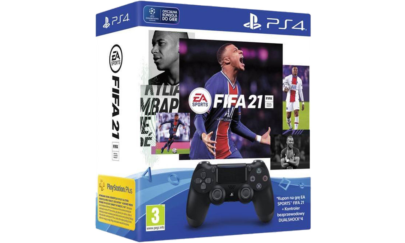 Zestaw specjalny pad DualShock 4 v2 + gra FIFA 21