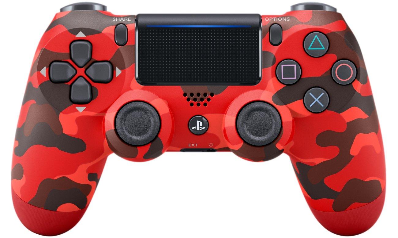 DualShock 4 w kolorze czerwonego kamuflażu