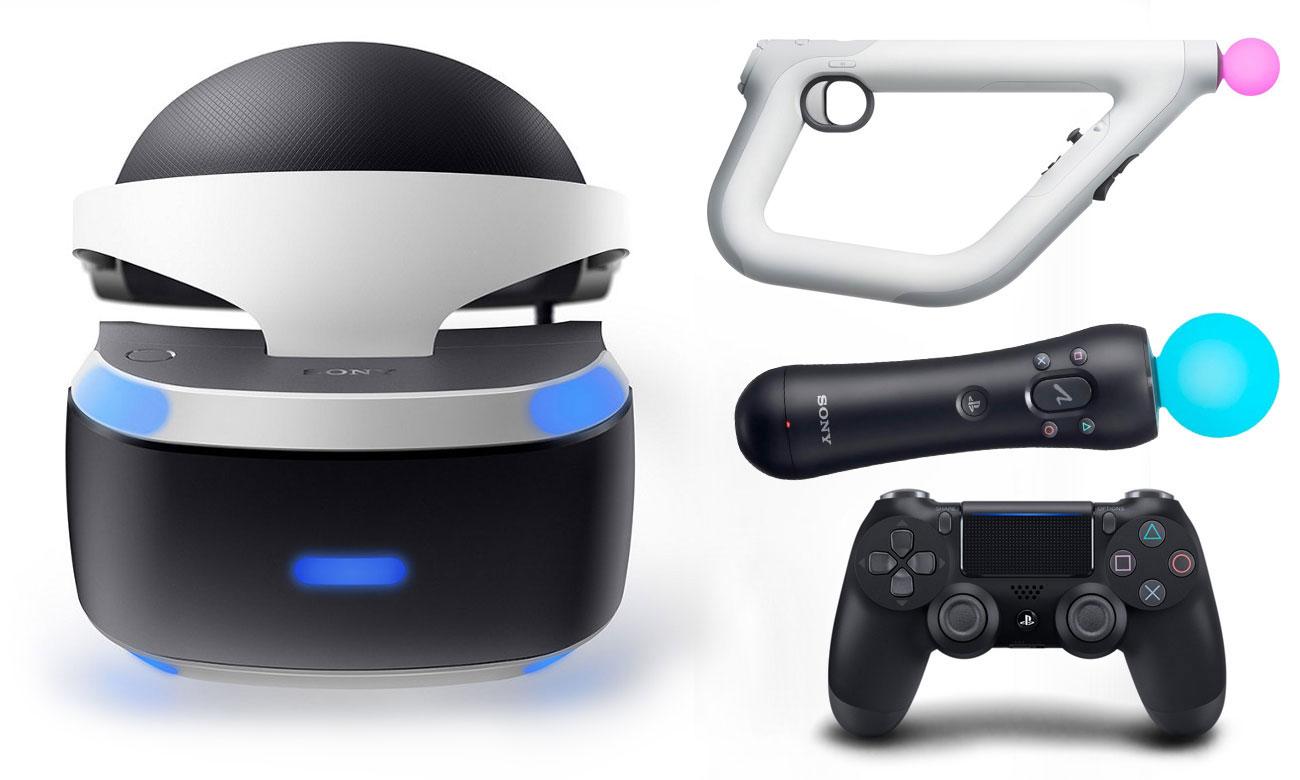 PlayStation VR Widok z przodu kontrolery