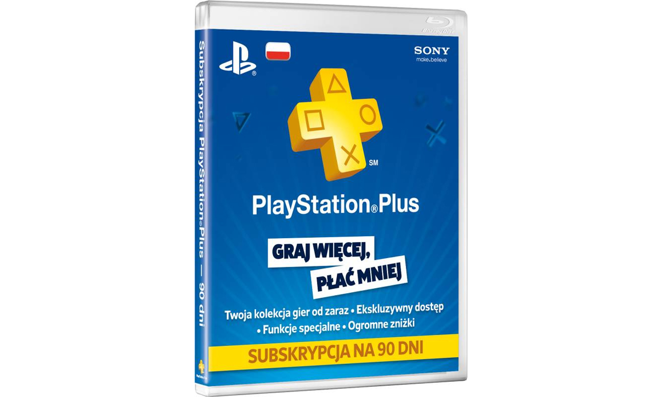 Karta Playstation Plus 90 dni