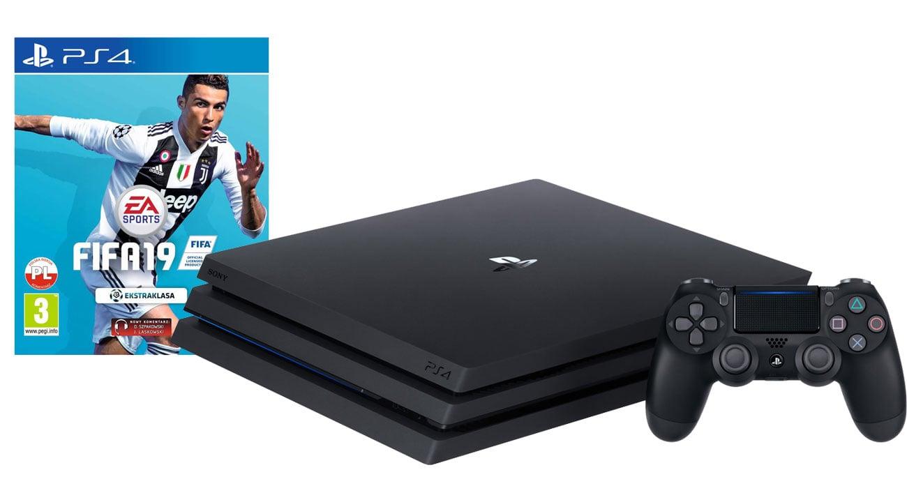 PlayStation 4 PRO w zestawie z grą FIFA 19