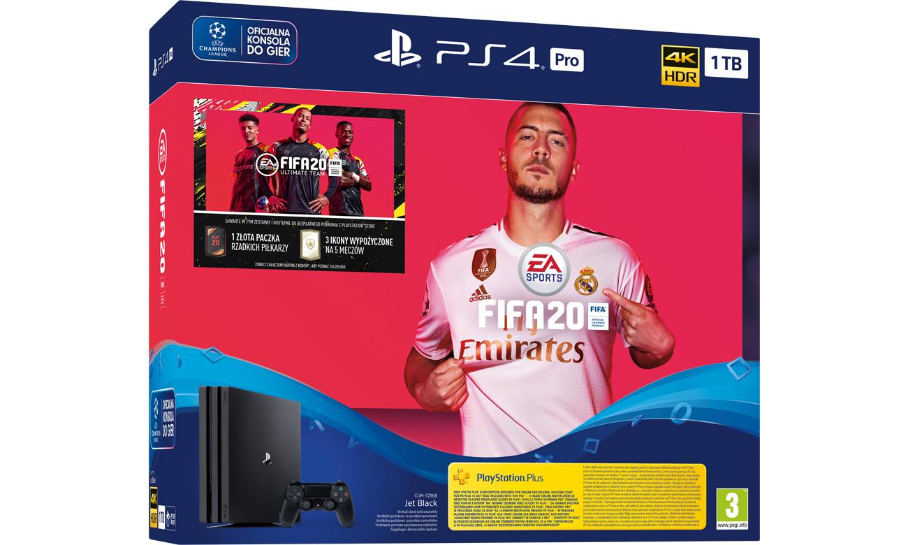 PlayStation 4 PRO w zestawie z grą FIFA 20