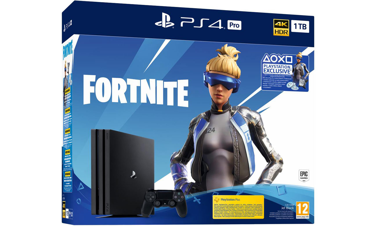 PlayStation 4 PRO Fortnite Bundle - KONSOLA SONY PLAYSTATION 4 PRO 1TB + GRA FORTNITE - playstation 4 pro, konsola playstation, konsola playstation 4, konsola ps4, playstation konsola, solpol