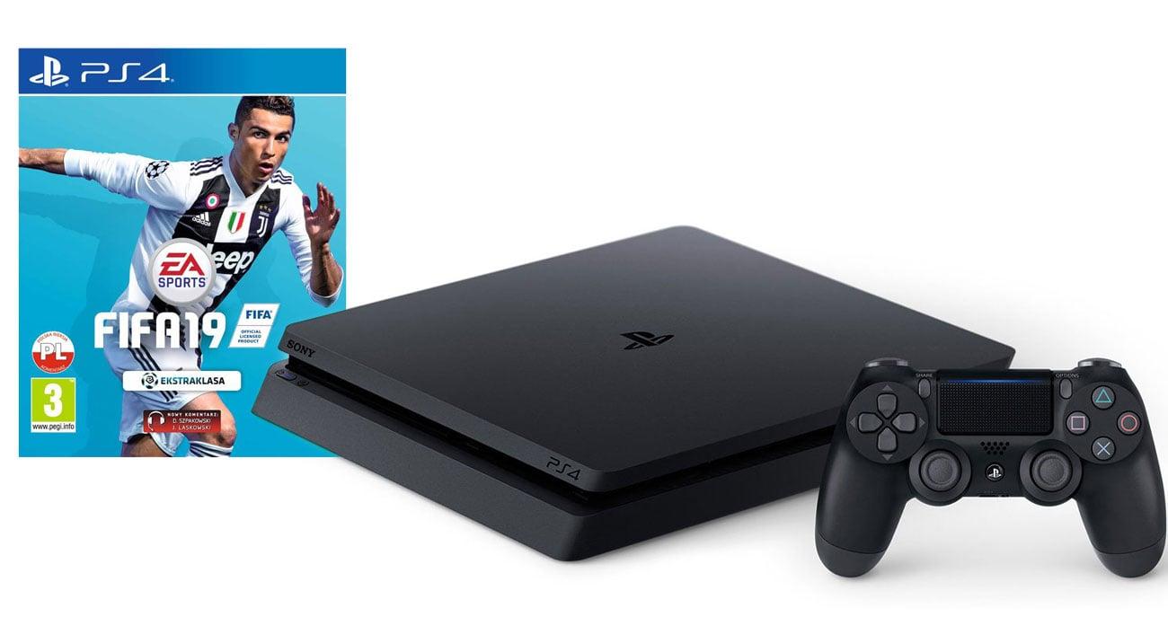 PlayStation 4 w zestawie z grą FIFA 19